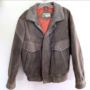Members Only VTG Grey Suede Jacket Size 40